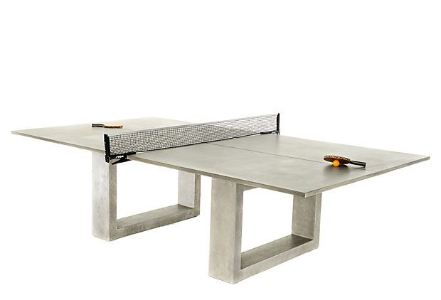 Ping Pong Dining Table, Gray on OneKingsLane.com: James Of Arci, James Dewulf, James D'Arcy, Jamesdewulf, Pingpong, Ping Pong Tables, Pong Dining, Concrete, Dining Tables
