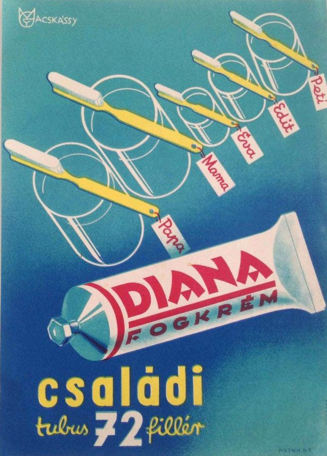 Diana toothpaste (21900 forint | $90 at Budapest Poster Gallery's Shop)