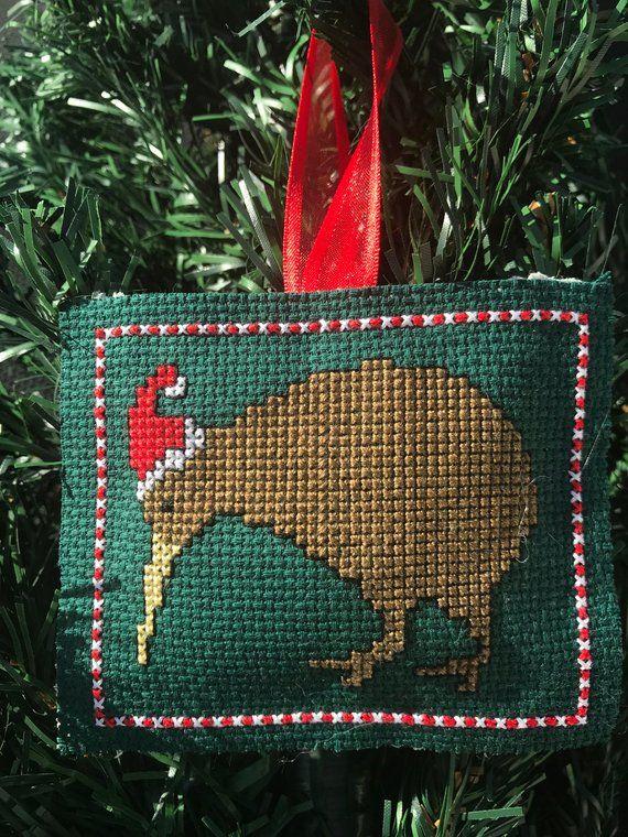 New Zealand Christmas Kiwi Cross Stitch Pattern Diy Christmas Etsy In 2020 Santa Cross Stitch Needlework Christmas Christmas Cross Stitch