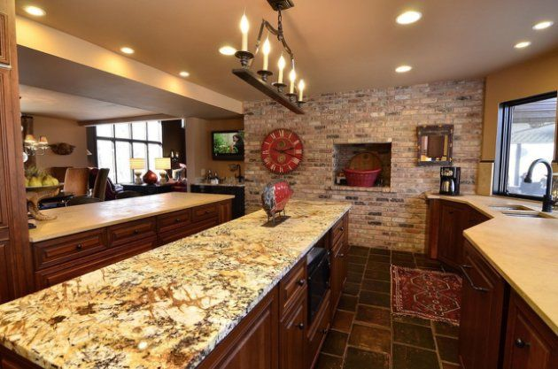 Source: Zillow Digs I LOVE the stone wall & how the different textures & elements work together.  I also love how big & open it is.