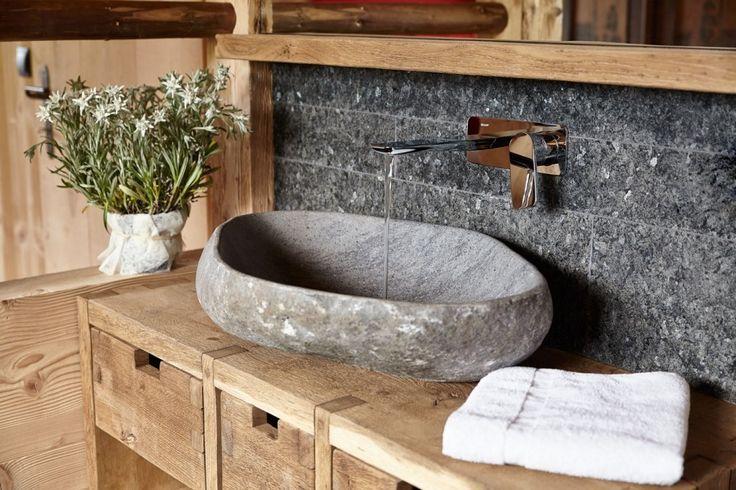 Marmor Waschbecken stein- Ideen Möbel