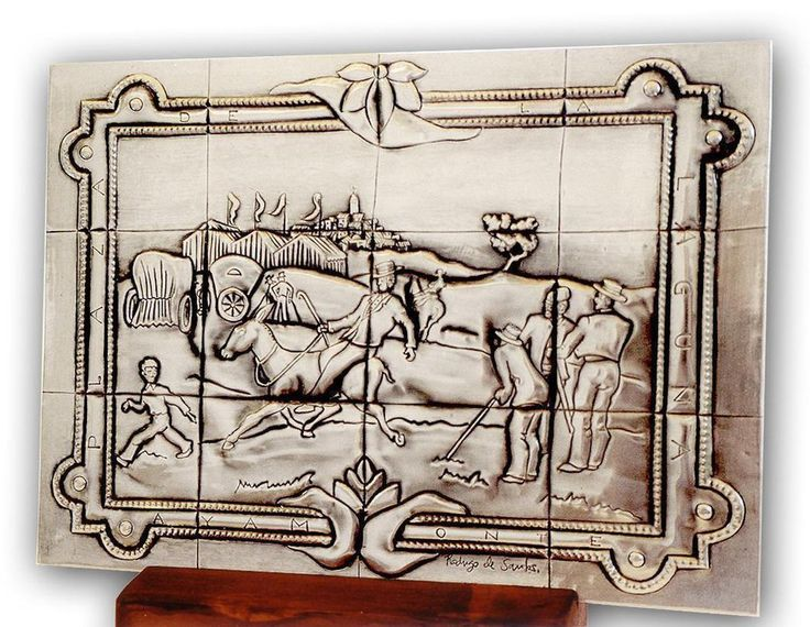 "Plaque inspired by a tile of a bench to  ""The Laguna Square"" from Ayamonte ""(Spain)."