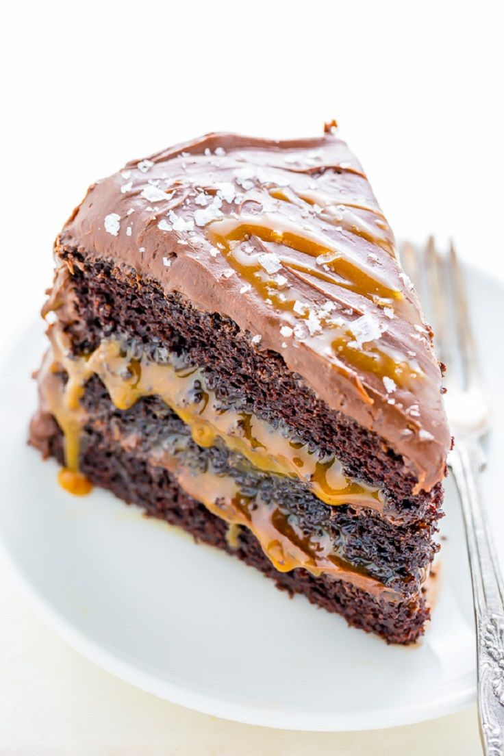 Salted Caramel Chocolate Cake - 12 Caramel Recipe Ideas that are Too Sweet to Handle