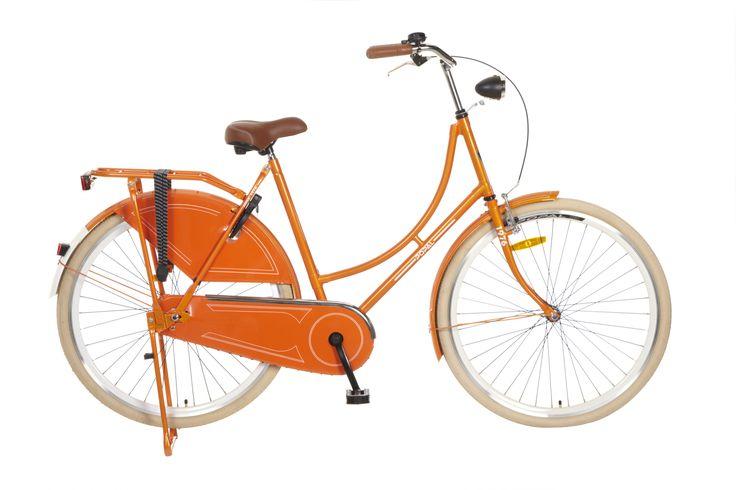bicicleta Omafiets 28 naranja. bicicleta holandesa