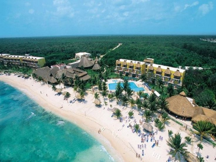 Aerial view of Akumal Beach Resort-loved this place!