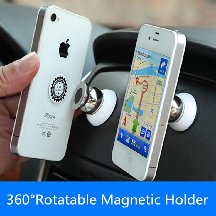 360車ホルダーミニエアーベントマウントマグネット磁気携帯電話携帯ホルダーユニバーサルのためのiphone 7 6 5 gpsブラケットスタンドサポート