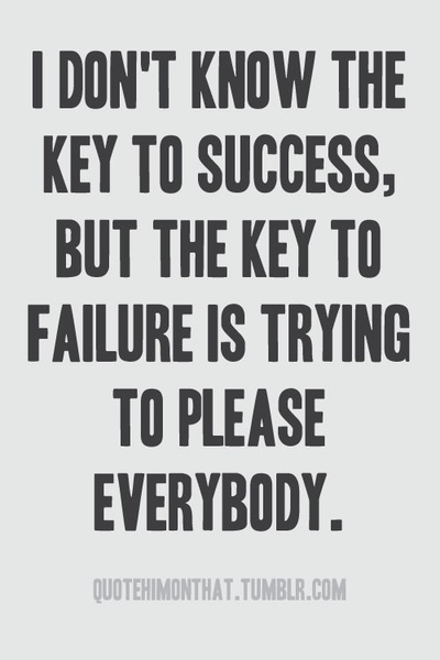 the key to failure... true story