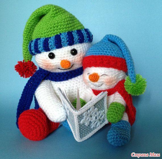 *Рождественские амигуруми 2 картинки (без схем ) - Все в ажуре... (вязание крючком) - Страна Мам