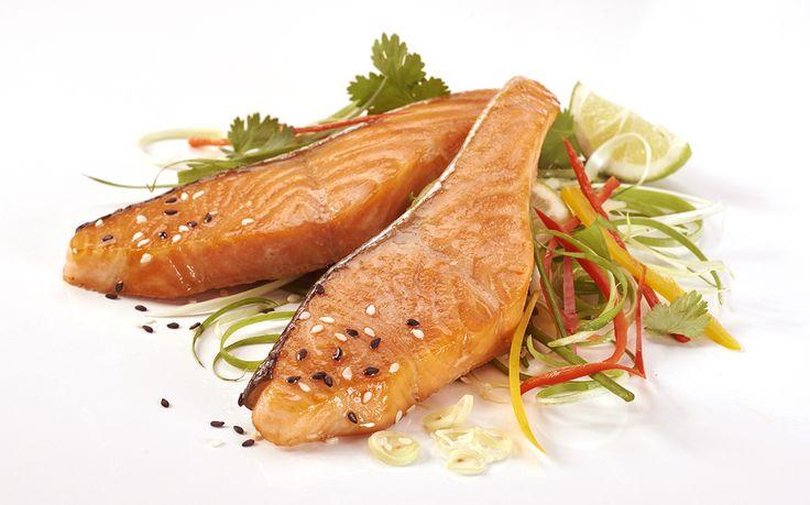 Regal Salmon Fresh Cuts Loins Teriyaki Pan-fry with Spring Onion and Chilli Salad  http://www.regalsalmon.co.nz/recipes/regal-salmon-fresh-cuts-loins-teriyaki-pan-fry-with-spring-onion-and-chilli-salad