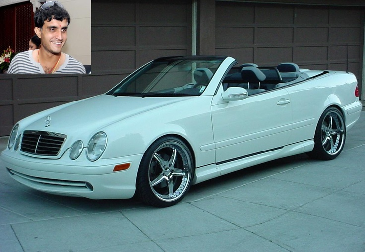 Saurav Ganguly's Mercedes Benz CLK convertible - http://auto.indiamart.com/autoblog/luxury-cars-that-our-indian-cricketers-drive.html