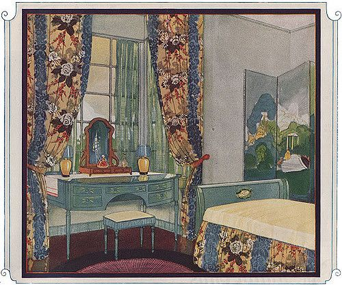1924 Bedroom - Standish Fabrics | by American Vintage Home