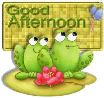 Good Afternoon cuz morning got away from me...:-)