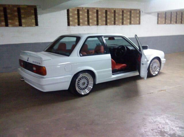 BMW 325is 1992. Bought my Evo 2 in 1994. Mine had black upholstrey