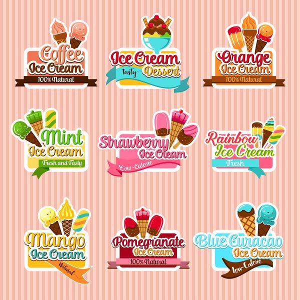 Etichette Caffe Con Gelato Vettoriale Gratuito Di File Eps Caffe Con Gelato Etichette Vettore Di Download N Ice Cream Ice Cream Parlor Party Label Templates