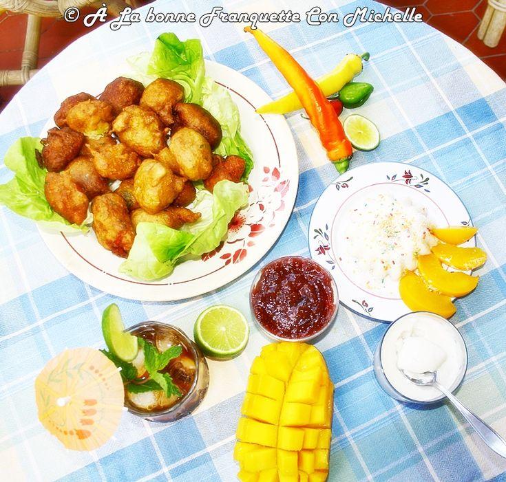 Cocina criolla, acras de bacalao, blanc-manger de coco y cokctail Ti'punch