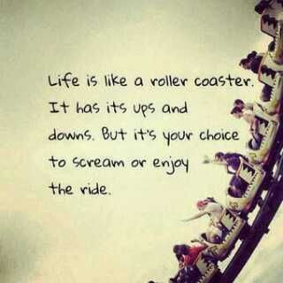 Life is like a rolor coaster