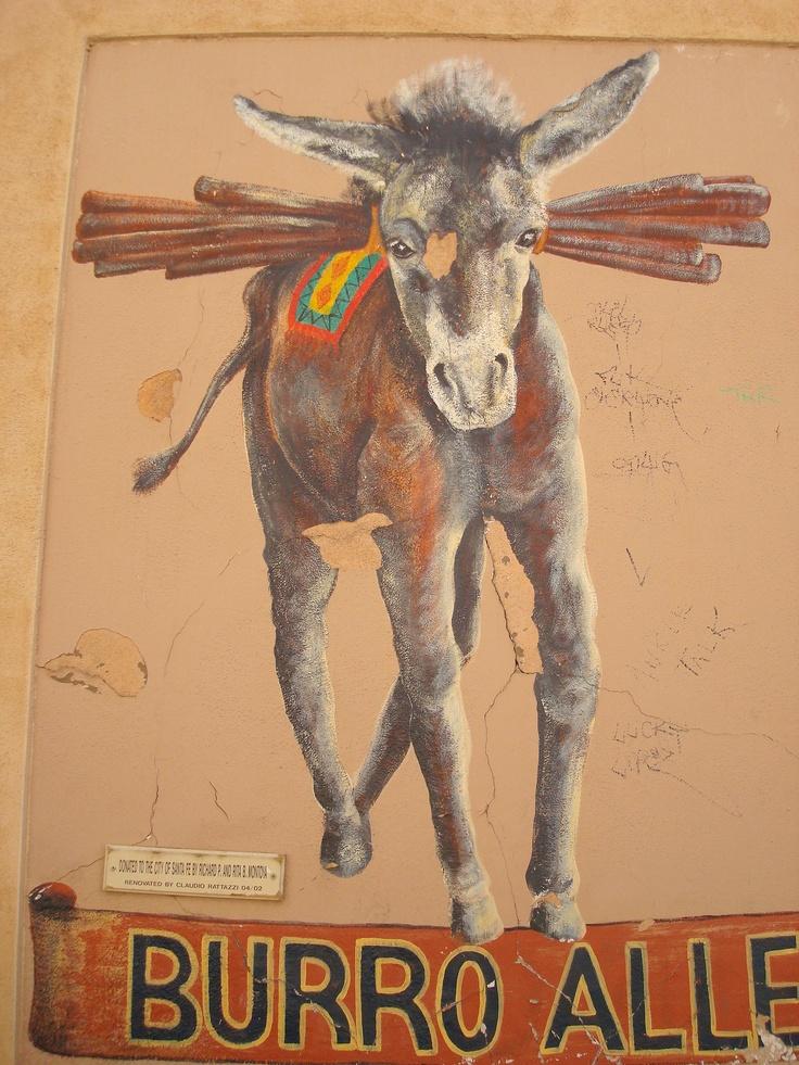 Burro Alley Mural, Santa Fe, NM