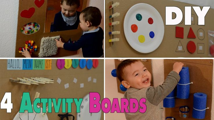 4 DIY Activity Boards for babys and toddlers | mamiblock