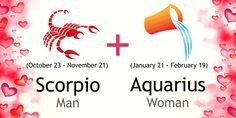 Scorpio Man and Aquarius Woman Love Compatibility