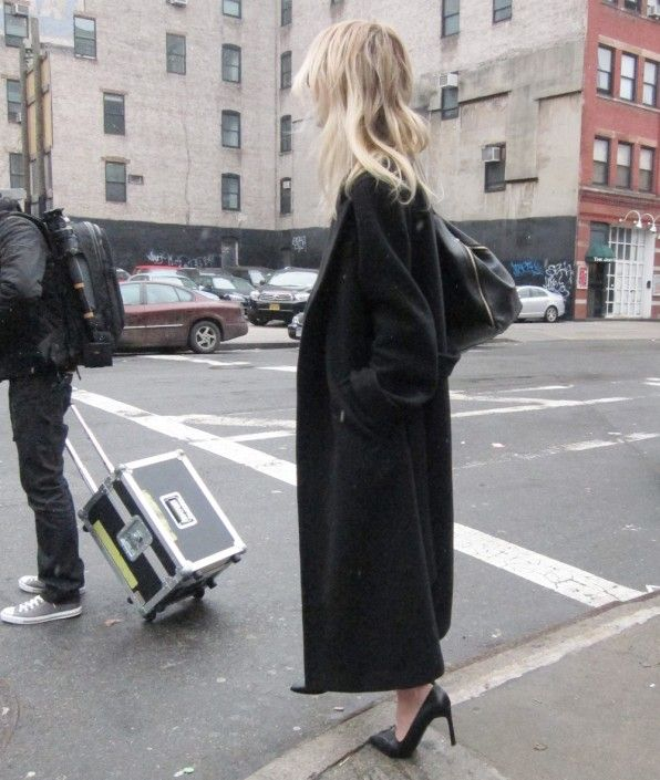 long coat & pumps #style #fashion