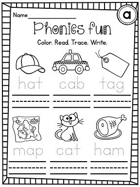 CVC Words Differentiated Worksheets Pack Colors