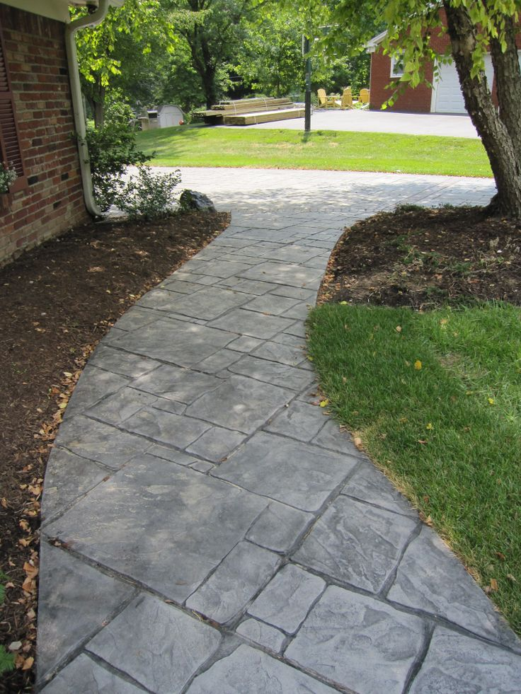 21 best images about chris 39 s sidewalk concepts on - Stamped concrete walkway ideas ...
