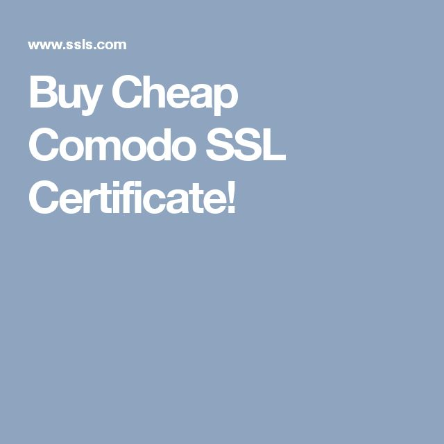 Buy Cheap Comodo SSL Certificate!