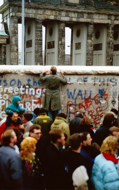 20 years ago, the world changed. Brandenburg Gate, where East met West, 1989. I'll never forget the emotions I felt when meeting East Germans with tears streaming down their cheeks as they crossed into West Berlin, many to see relatives they hadn't seen in 30 years or more.