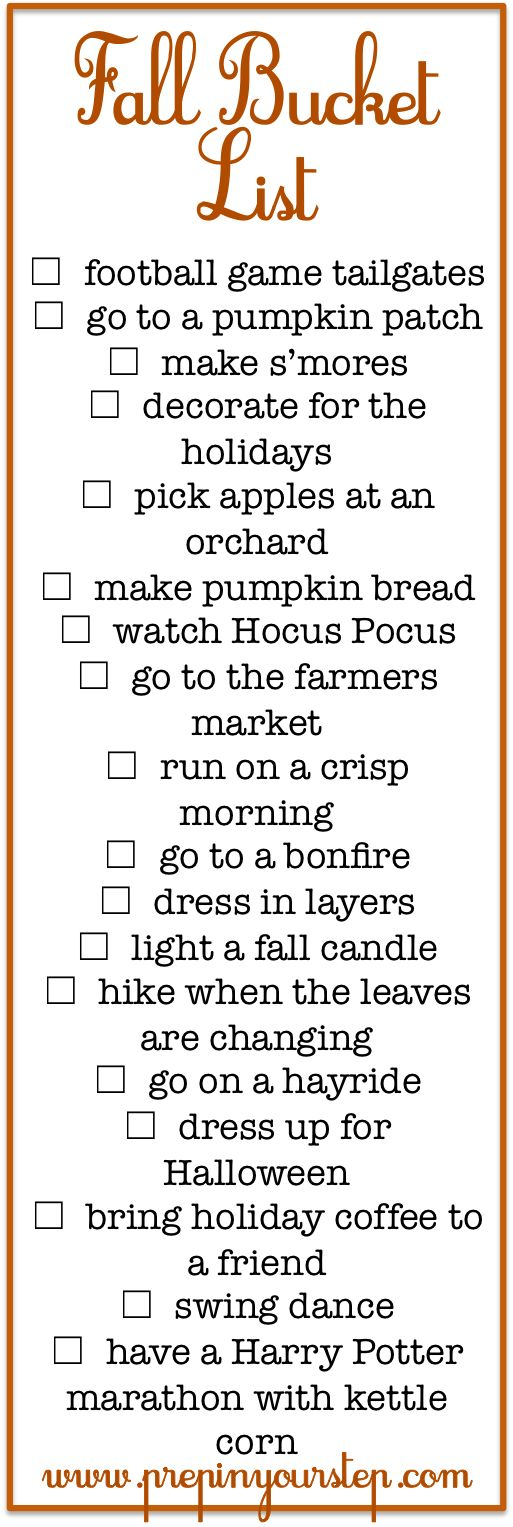 Prep In Your Step: Fall Bucket List + Fun Fall Activities