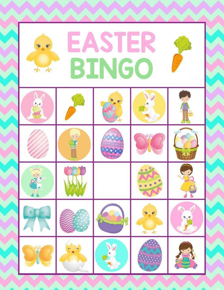 Easter Bingo Printable For Kids  Fun Easter Game For Kids And Family