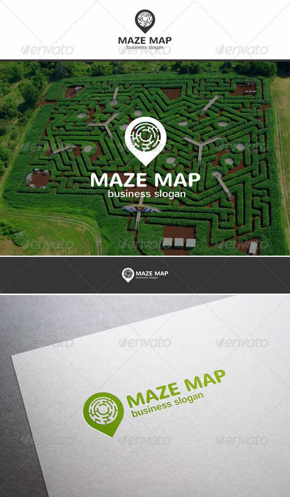 Maze Map Pointer Logo - Simple, clean and modern Creative logo template. Is a multipurpose logo. Excellent suitable for GPS navigation, map apps, labyrinth games, for Location tag technology business, Interiors, architect design, interior designers. This logo that can be used by multi media developers, design agencies, web designers, photo and video studios, software companies and applications, etc.