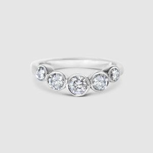 Image result for curved eternity bands