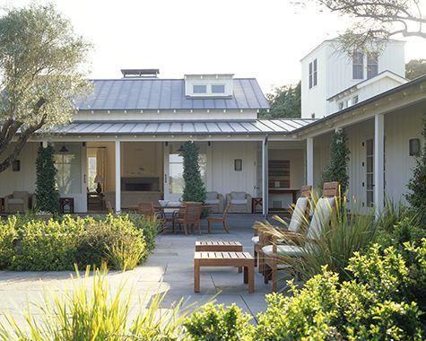courtyard/tin roof