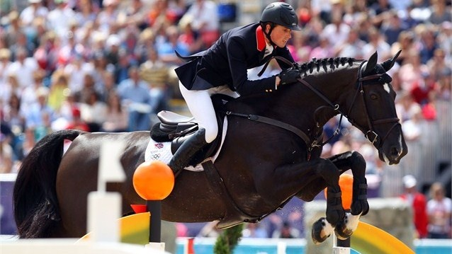 Ben Maher of Great Britain riding Tripple X competes in the Individual Jumping Equestrian on Day 12 of the London 2012 Olympic Games at Greenwich Park