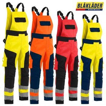 """Latzhose High-Vis """"2660"""" - BLAKLÄDER® #Blåkläder #warnschutz #warnschutzlatzhose #workwear #arbeitskleidung"""