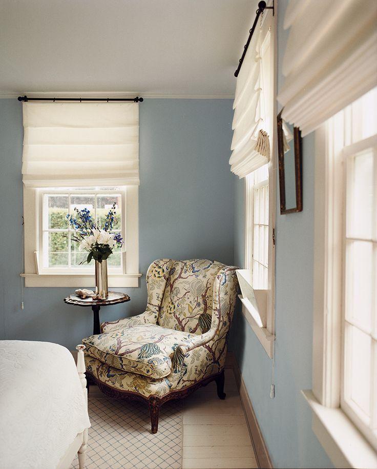 "bedroom paint color ideas on domino.com  ""Riviera azure"" by Benjamin Moore"