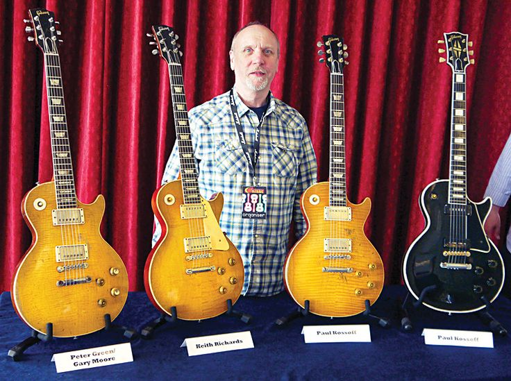 'Bursting with Surprises, Kirk Hammett owns the Peter Green/Gary Moore on the left.