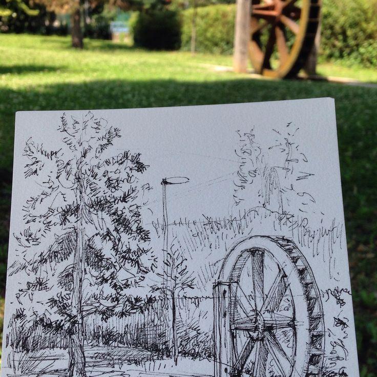 In pausa pranzo al Parco Manin Montebelluna
