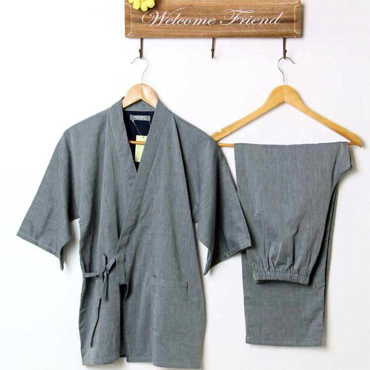 Хлопок Юката Японские Кимоно Традиционная Японская мужская Одежда Японские Пижамы мужские Пижамы Lounge Домашней Одежды Костюмы