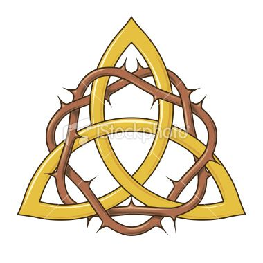 Trinity Knot with crown of thorns. Chase gets a trinity tattoo as her first. It's something to see her father into the idea.