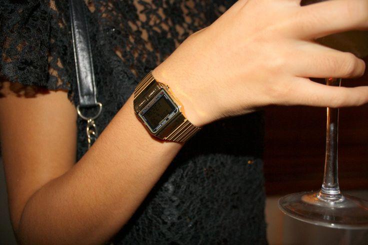 classic casio gold watch