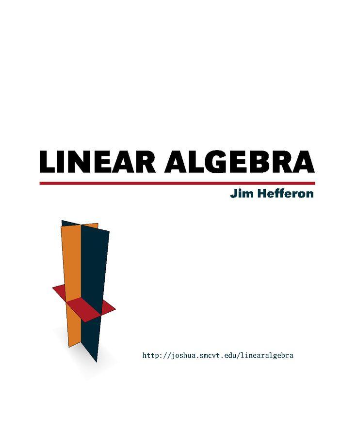 Linear Algebra Online Textbook
