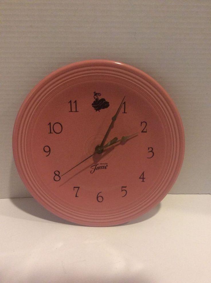Fiesta Dinnerware Rose Wall Clock Plate 10