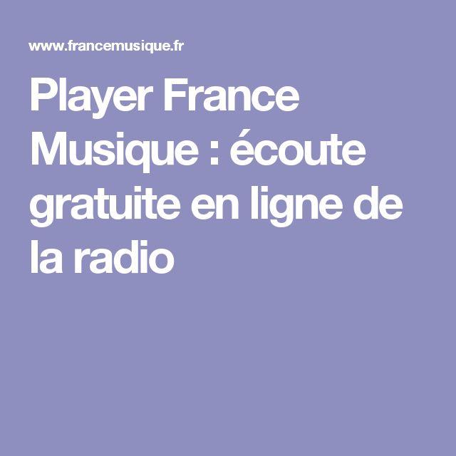 Player France Musique : écoute gratuite en ligne de la radio