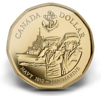 Canadian Coin Collection: 2010 - Canadian Naval Centennial
