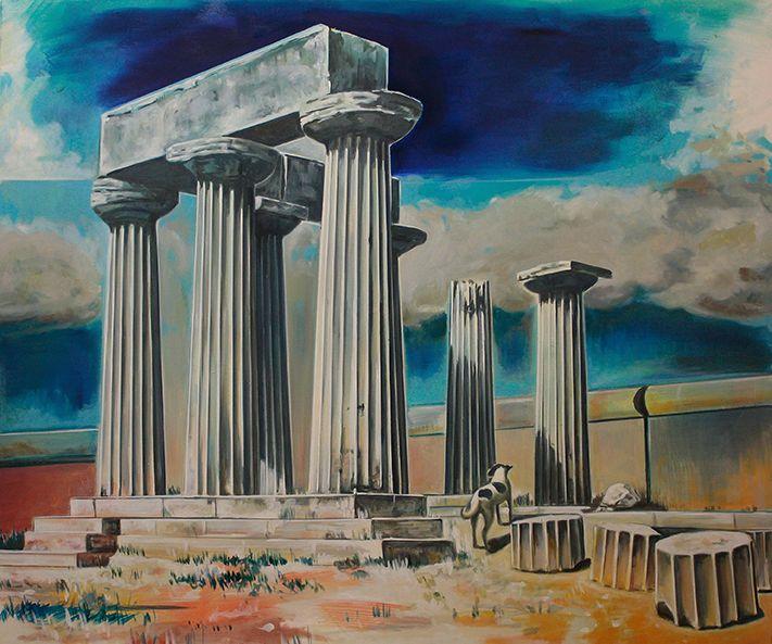 """""""Temple I"""" Rudi Cotroneo 135x160 cm Oil on canvas"""