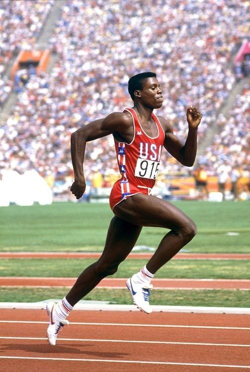 Carl Lewis was an American track and field athlete who was named athlete of the year in 1982, 1983, and 1984. Carl set many world records.