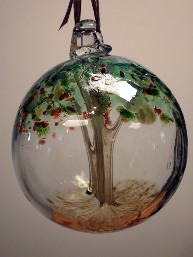 how to make a blown glass witch ball