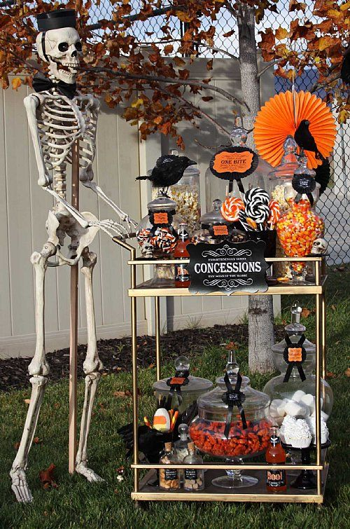 loralee lewis halloween drive in movie night - Halloween Decorations For A Party