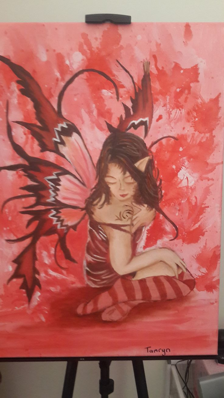 Fairy painting for her room!! looks so beautiful